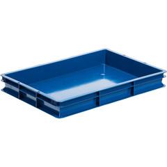 Ящик (лоток) универсальный хлебный из ПНД 600x400x75 мм синий