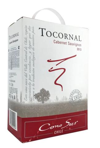 Вино Коно Сур Токорнал Каберне Совиньон 2013 столовое красное п/сух. 3 л  12,5% Чили