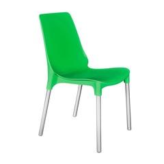 Стул GENIUS (mod 75) металл/пластик,  зеленый