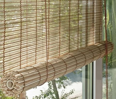 Бамбуковая рулонная штора Бунгало натуральный микс