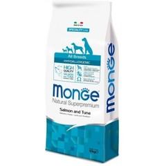 Корм для собак Monge Speciality Line Hypoallergenic – Лосось и тунец 15 кг