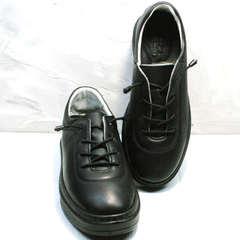 Полностью черные кеды кроссовки кожаные женские Rozen M-520 All Black.