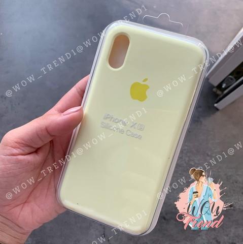 Чехол iPhone XS Max Silicone Case Full /mellow yellow/ волшебно-желтый