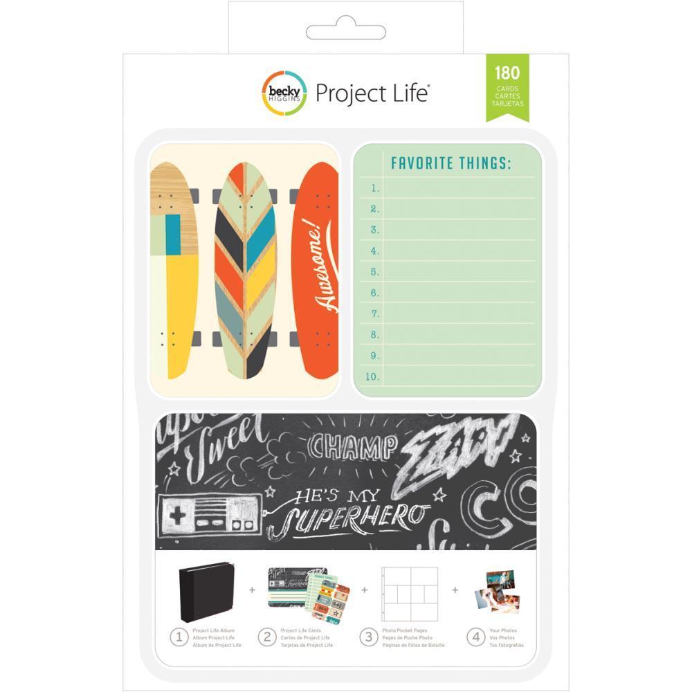 Карточки для Project life 180шт_BOYS RULE