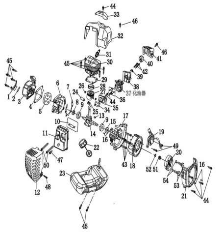 Двигатель в сборе  для лодочного мотора T2 SEA-PRO