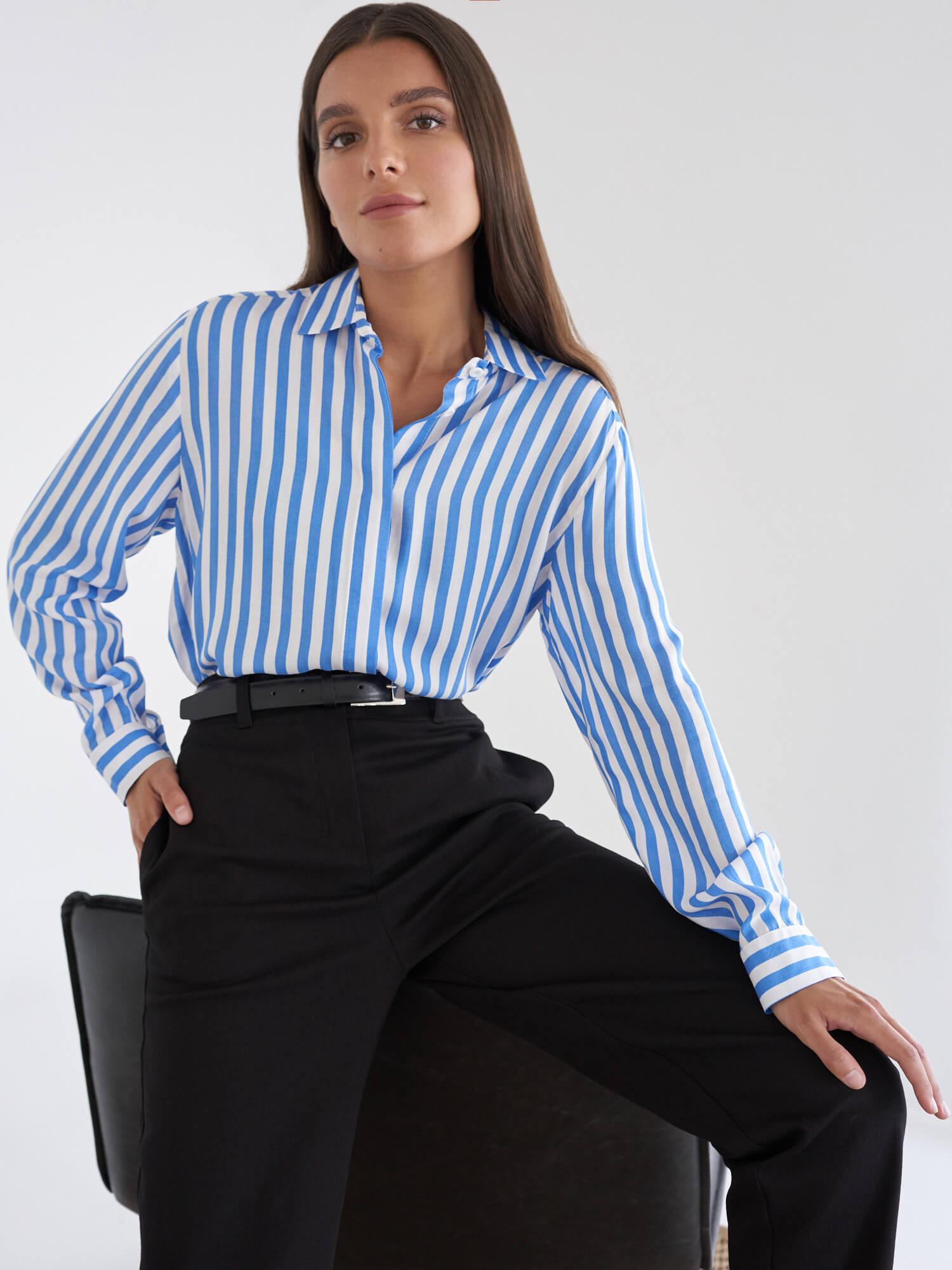 Рубашка June в полоску фото