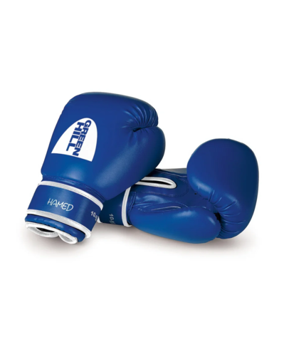 Перчатки боксерские HAMED Green Hill синие