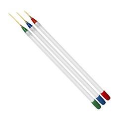 Набор кистей для рисования TNL 3 шт. (цветной наконечник)