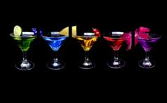 """Модульная картина """"Цветные напитки"""""""
