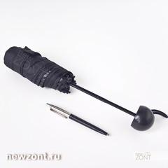 Карманный зонтик капсула mini pocket umbrella black