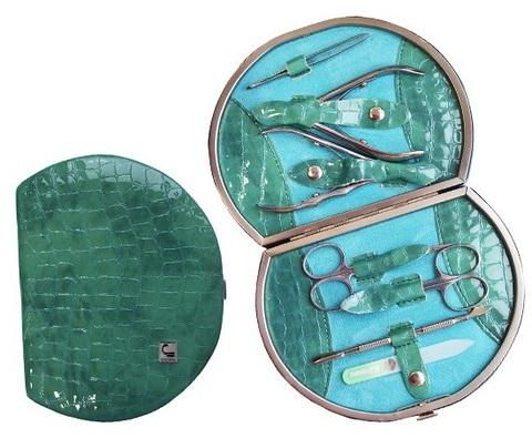 Маникюрный набор СТАЛЕКС НМ-07/2 «Рамка профессиональная», 7 предметов. Натуральная кожа, ручная заточка. Цвет № 91