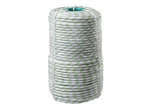 Фал плетёный капроновый СИБИН 16-прядный с капроновым сердечником, диаметр 8 мм, бухта 100 м, 1000 кгс