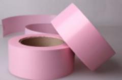 Лента простая (5см*50м) Гладкая без тиснения Розовая