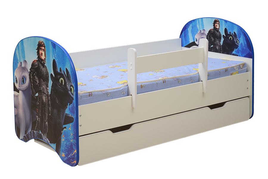Кровать детская с фотопечатью Драконы 005