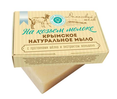 МДП Крымское натуральное мыло на козьем молоке ДАМАССКИЙ ШЕЛК, 100г