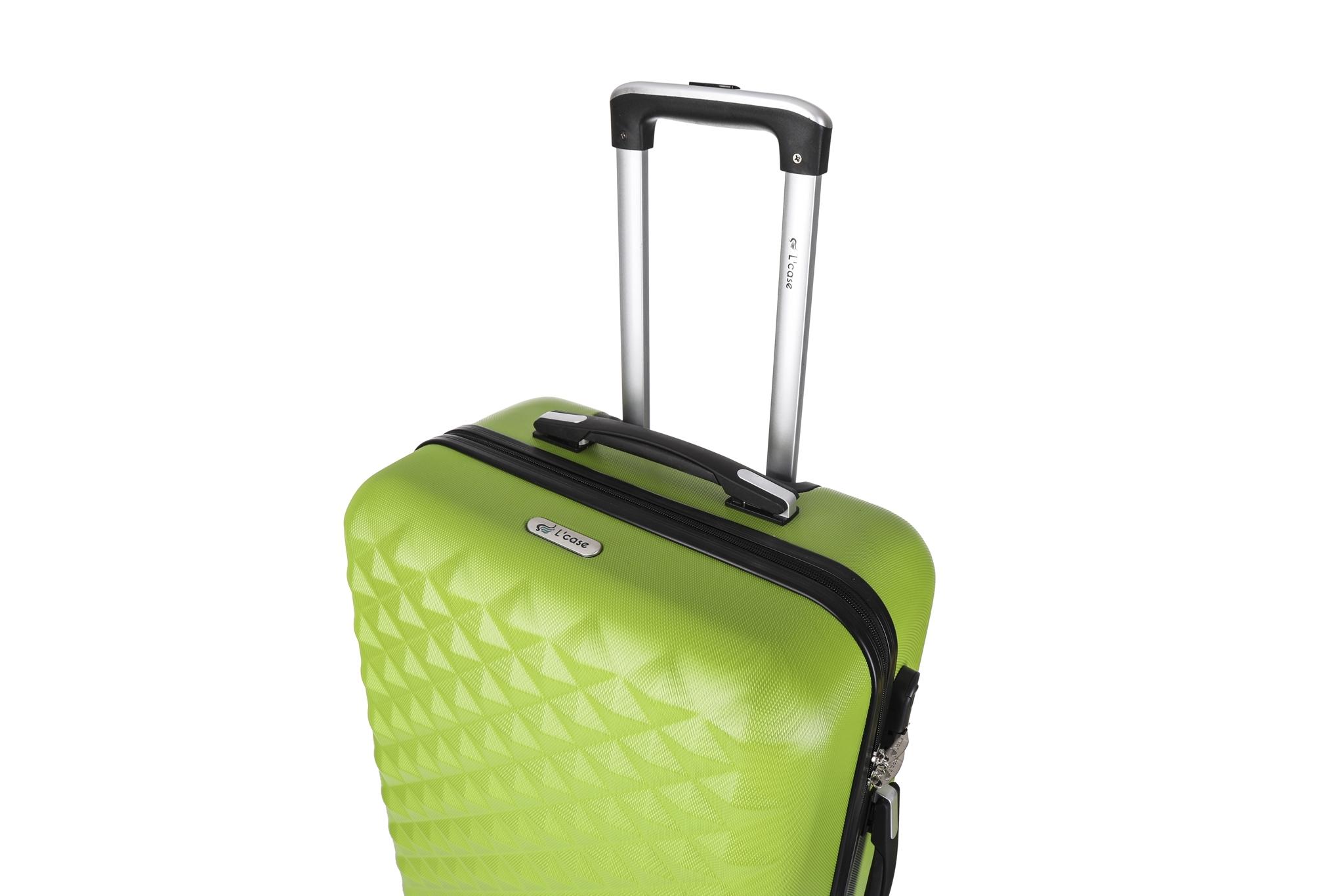 Чемодан со съемными колесами L'case Phatthaya-28 Зеленый (L)