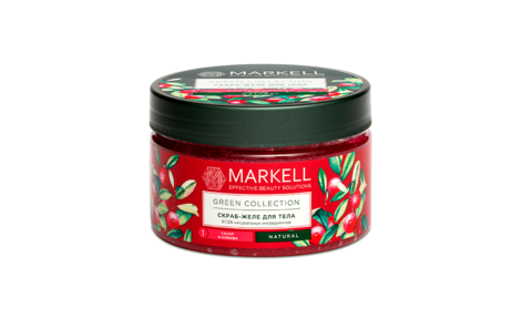 Markell Green Collection Скраб-желе для тела Сахар и Клюква 250мл