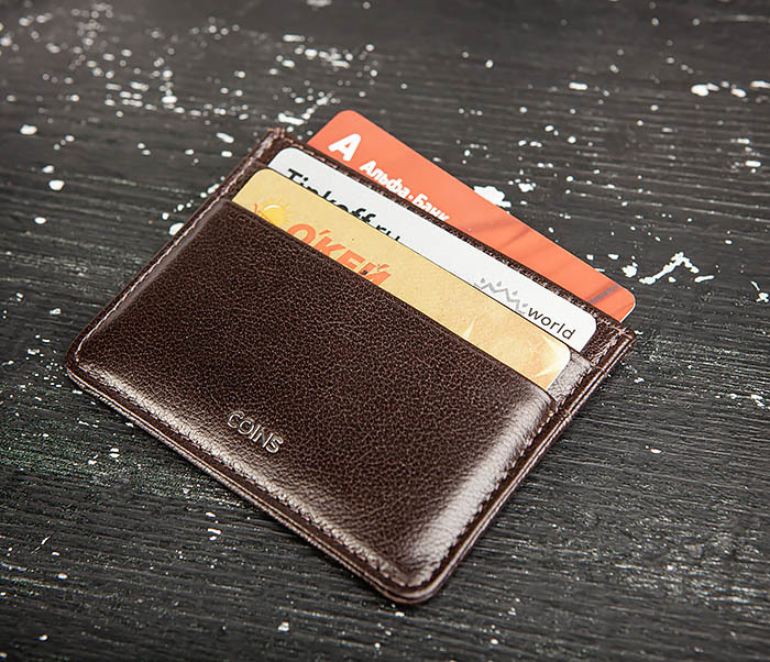 BC219-2 Тонкий кожаный кардхолдер (чехол для карточек), «Atos» фото 05