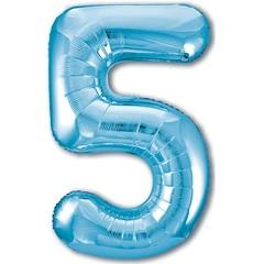 Р Цифра, 5, Slim, Голубой, в упаковке 40''/102 см, 1 шт.