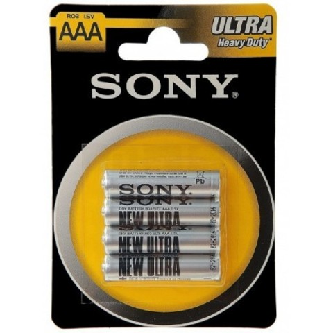 Батарейки Sony R03, AAA (4/48/240) BL