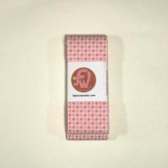 ЛЕНТА ДЛЯ ЛОСКУТНОГО ШИТЬЯ мелкая розовая клетка