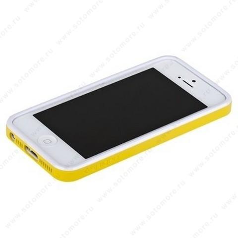 Бампер SGP для iPhone SE/ 5s/ 5C/ 5 с резиновой прокладкой вид 3