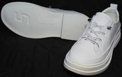 Модные спортивные туфли с белой подошвой женские El Passo sy9002-2 Sport White.