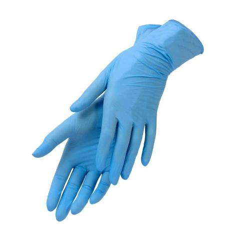 Перчатки нитриловые (синий, S, 100 шт./упк.).