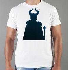 Футболка с принтом Малефисента, Анджелина Джоли (Maleficent ) белая 001