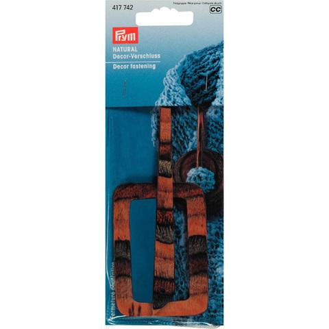 Застежка декоративная дерево PRYM 417742