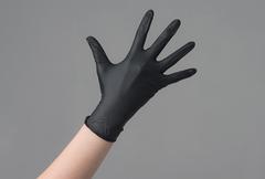 Перчатки нитрил черные Safe&Care XS, 100 шт
