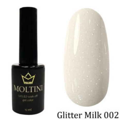 Гель-лак Moltini GLITTER MILK 002, 12 ml