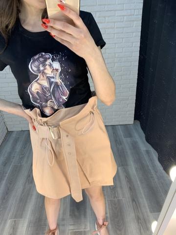 юбка с поясом на талии интернет магазин