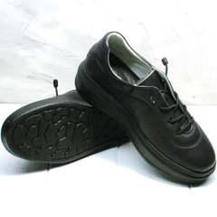 Кожаные черные кеды на высокой подошве женские Rozen M-520 All Black.