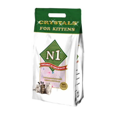 №1 Crystals For Kittens Наполнитель для туалета котят силикагелевый