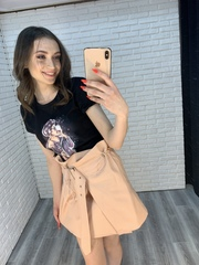 юбка с поясом на талии оптом