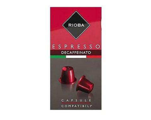 Кофе в капсулах Rioba Espresso Decaffeinato, 10 капсул для кофемашин Nespresso