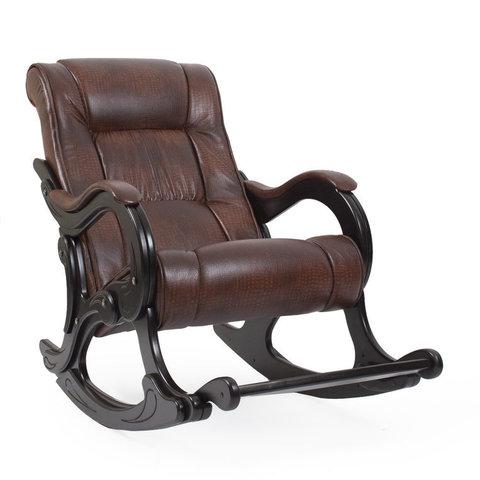 Кресло-качалка Комфорт Модель 77 Каркас венге, обивка Antik crocodile