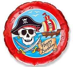 F Круг Пираты С днем рождения, 18''/46 см, 1 шт.