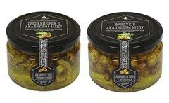 Набор (2 шт.) орехов в акациевом меду: грецкий и фундук, 500 г