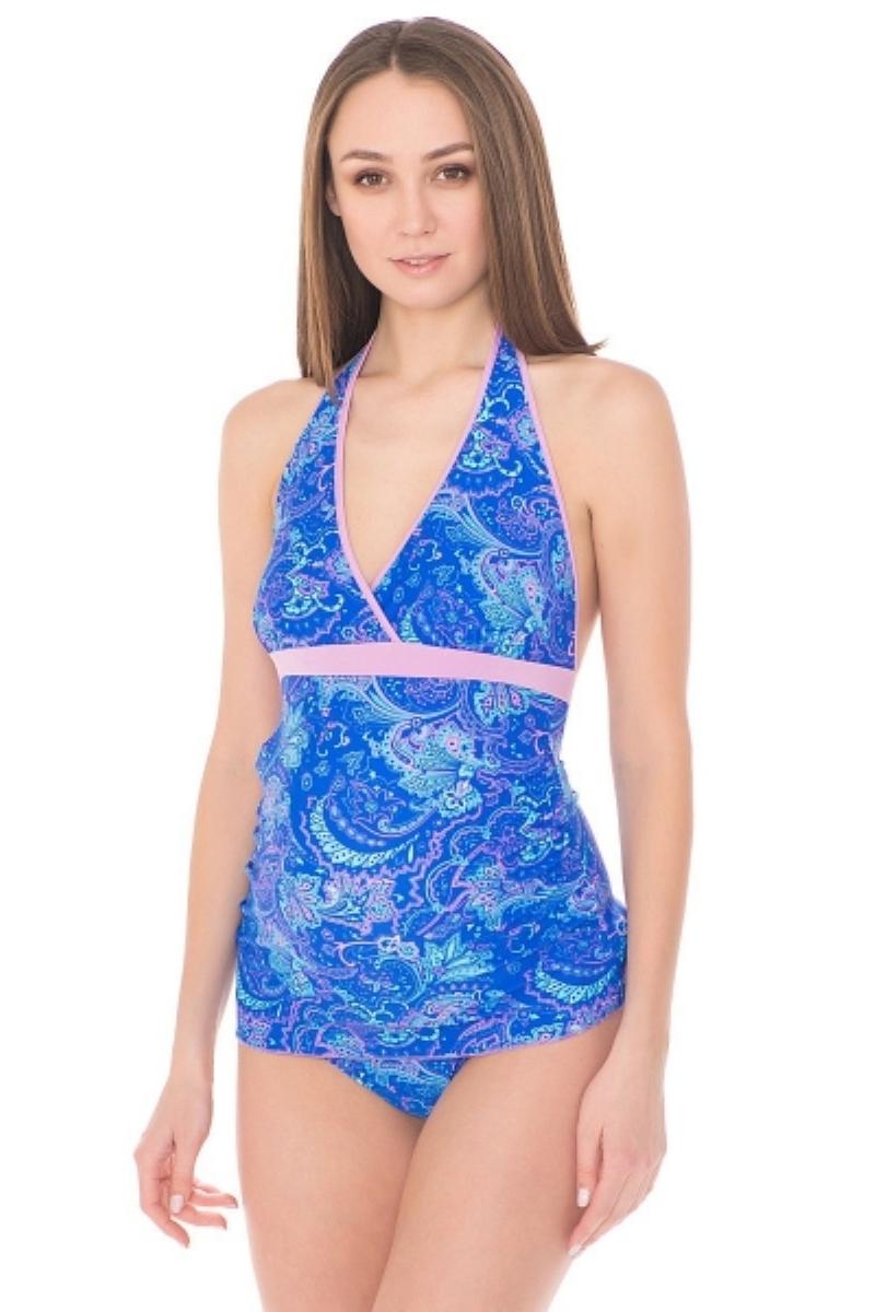 Купальник для беременных 07478 синий/голубой/розовый