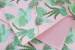 Бумага с принтом листья 50х70см 5 листов