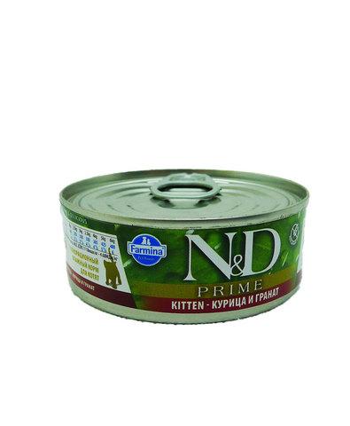 Farmina N&D консервы для котят (курица с гранатом) 80г