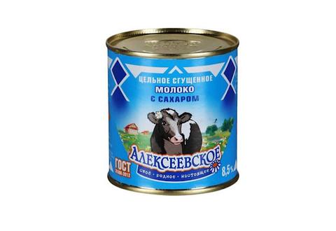 Сгущенное молоко Алексеевское цельное с сахаром 8.5%, 380 г