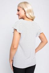 """<p><span>Романтическая блуза стильного кроя. Гармонично сочетается с множеством фасонов брюк и юбок.Рукав """"крыло"""".</span></p>"""