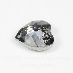 6432 Подвеска Сваровски Сердечко Heart Cut Crystal Silver Night (10,5 мм)