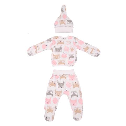 Mini Fox. Комплект для новорожденных 3 предмета, белки