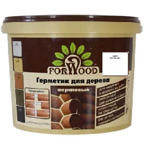 Forwood герметик для дерева и бетона акриловый для наружных и внутренних работ цвет белый 14кг вд-ак 1501