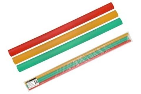 Трубки термоусаживаемые, набор 3 цвета по 3 шт. ТТкНГ(3:1)-7,9/2,65 TDM