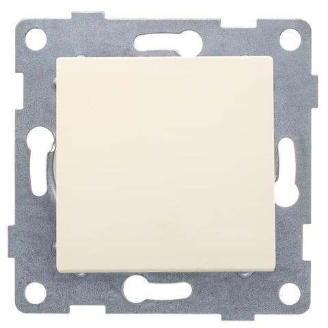 Выключатель одноклавишный, 10 А 220/250 В~. Цвет Бежевый. Ugra GUSI Electric. С11В1-003